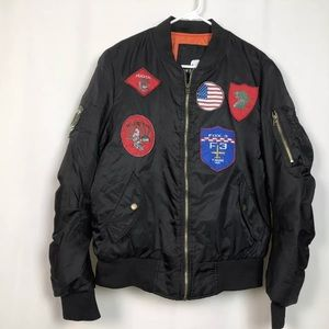 American Stitch Flight BOMBER JACKET with Patches